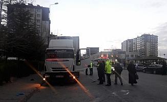 Kayseri'de kamyonun altında kalan yaya öldü