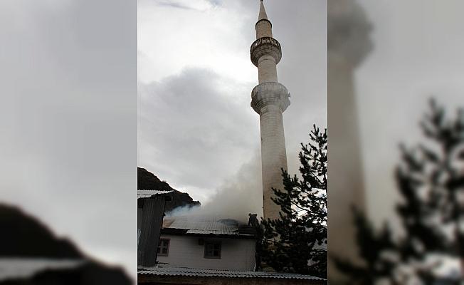 Sivas'ta cami yangını