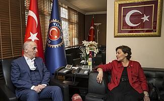 Vatan Partisi adayından Türk-İş'e ziyaret