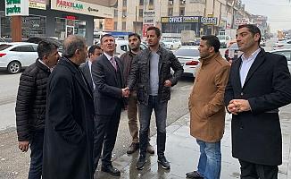 Başkan Balcı'dan yangında hasar gören mobilya mağazasına ziyaret