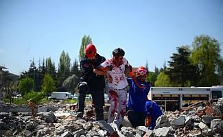 Eskişehir'de deprem tatbikatı
