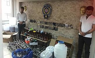 Başkentte sahte içki operasyonu