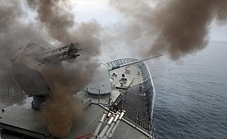 Denizkurdu-2019'da hava savunma atışları yapıldı