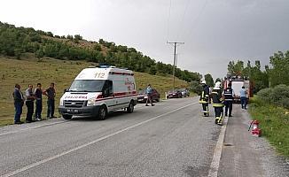 Yozgat'ta trafik kazası:1 ölü, 4 yaralı