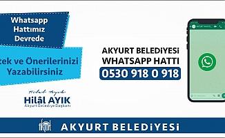 Akyurt Belediyesi WhatsApp hattı hizmete girdi.