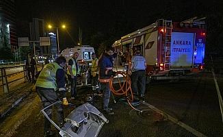 Başkentte trafik kazası: 1 yaralı