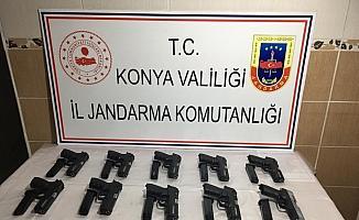Beyşehir'de jandarmanın silah operasyonu