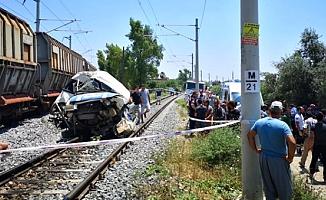 Mersin'de tren kazası: 1 ölü 4 yaralı