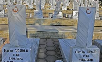 Şehit ağabeyinin mezarını 45 yıl sonra fotoğraftan gördü