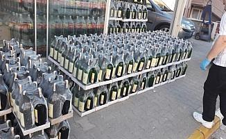 5 bin 170 şişe kaçak ve sahte alkollü içki ele geçirildi
