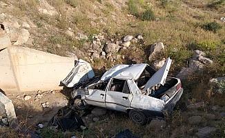 Aksaray'da otomobil uçuruma devrildi: 1 ölü