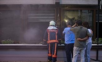 Başkentte iş yeri yangını
