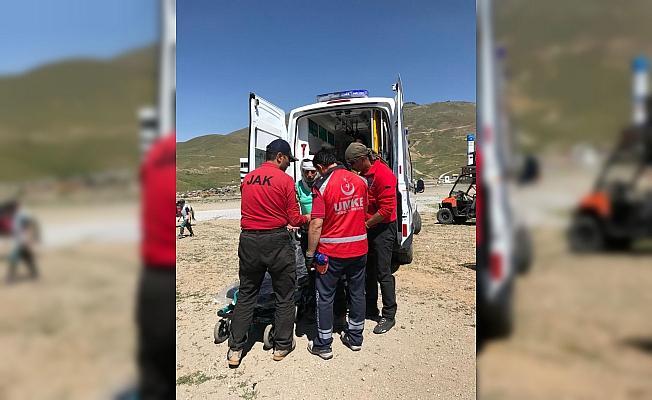 Erciyes'te 2 dağcı yaralandı