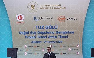 Tuz Gölü Doğal Gaz Depolama Genişletme Projesi Temel Atma Töreni