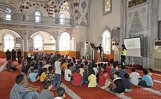Kulu'da Kur'an kursu öğrencilerine trafik eğitimi verildi