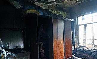 Kayseri'de ev yangını