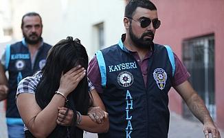 Kayseri'de fuhuş operasyonu: 9 gözaltı
