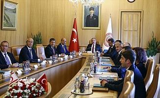 TBMM Başkanı Şentop, KKTC Başbakan'ı Tatar'ı kabul etti