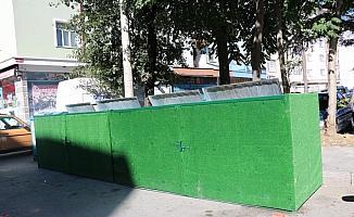 Beyşehir'de çöp konteynerlerine çevreci kamuflaj