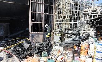 Eskişehir'de sanayi sitesinde yangın