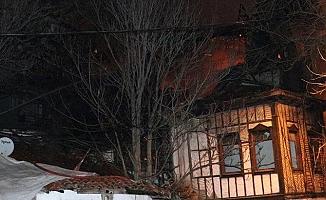 Ankara'da tarihi konaklar yandı.