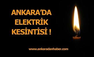 Dikkat! Ankara'da Etkili Kesinti Olacak.