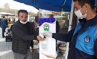 Beypazarı'nda polis ve zabıtadan pazar denetimi