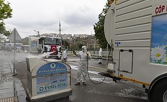Mamak'ta sokaklar dezenfekte edildi