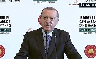 Cumhurbaşkanı Erdoğan: 82 ülkeye tıbbi malzeme ve maske yolladık