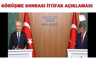 Kılıçdaroğlu ile Davutoğlu ittifak sorusunu cevapladı.