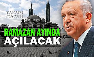 Cumhurbaşkanı Erdoğan, Taksim Camii'ni inceledi
