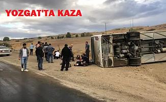 Yozgat'ta belediye otobüsü devrildi! Yaralılar var