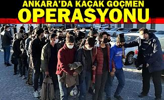 Ankara'da 2 otobüste 78 kaçak göçmen yakalandı