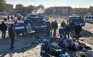"""Ankara'da """"bit pazarı""""na polis müdahalesi"""