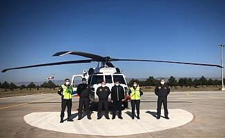 Eskişehir İl Jandarma Komutanlığı helikopterle trafik denetimi yaptı