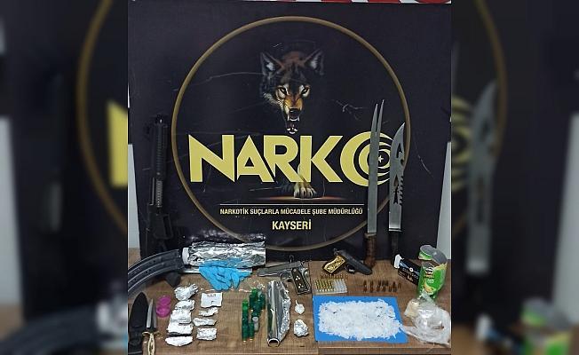 Kayseri'de uyuşturucu operasyonları: 7 gözaltı