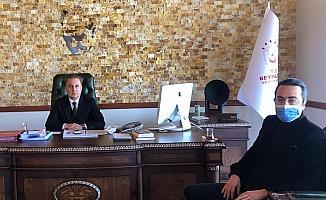 CHP ve MHP İlçe Başkanlarından Beypazarı Kaymakamı Bozdemir'e ziyaret