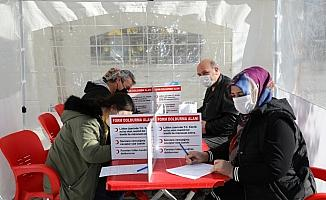 Çubuk'ta vatandaşlar kan bağışı kampanyasına ilgi gösterdi