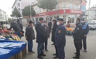 Hüyük'te vaka artışı nedeniyle kapatılan halk pazarı yeniden açıldı