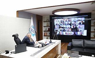 Başkan Memduh Büyükkılıç, pandemi toplantısına katıldı