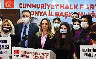 CHP Kadın Kolları Genel Başkanı Nazlıaka, Konya'da kadına şiddeti konuştu: