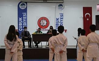 Çubuk'ta judo kuşak sınavı yapıldı