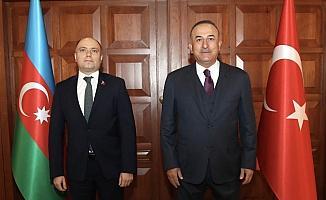 Dışişleri Bakanı Çavuşoğlu, Azerbaycan Kültür Bakanı Kerimov'la görüştü