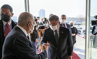 Gelecek Partisi Genel Başkanı Davutoğlu, Karamollaoğlu'nu ziyaret etti