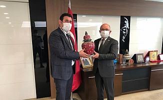 Hüyük Belediye Başkanı Çiğdem'den kamu kurumlarına ziyaretler