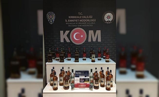Kırıkkale'de 32 litre sahte alkol ele geçirildi