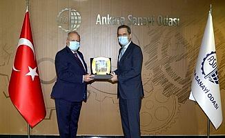 Portekiz'in Ankara Büyükelçisi Leitao, ASO Başkanı Özdebir'i ziyaret etti