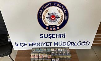 Suşehri'nde 4 iş yerinden hırsızlık yaptığı belirlenen şüpheli yakalandı