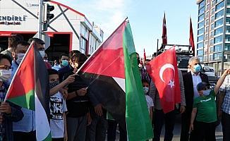 Niğde'de, İsrail'in Filistinlilere saldırıları protesto edildi