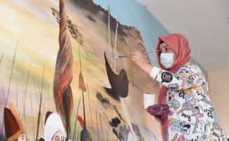 Altındağ'da okul duvarları tablo gibi